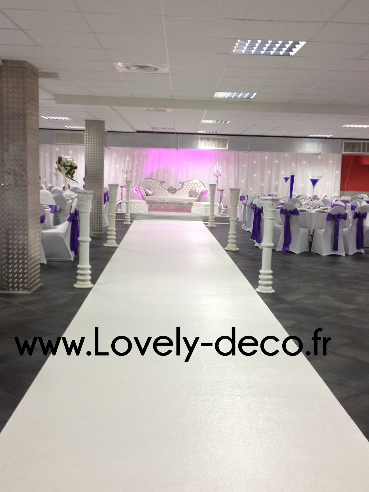 tapis blanc ou tapis rouge pour mariage
